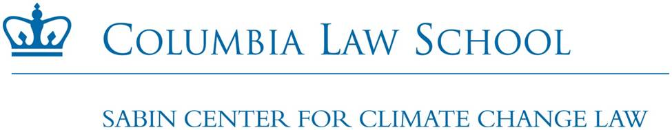 Columbia Law School - Sabin Center for Climate Change